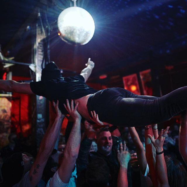 Weeeeeeeeee! #theplaidians #albumlaunch #livemusic #indieartist #revolverupstairs @revolverupstairs #stagedive #crowdsurfing