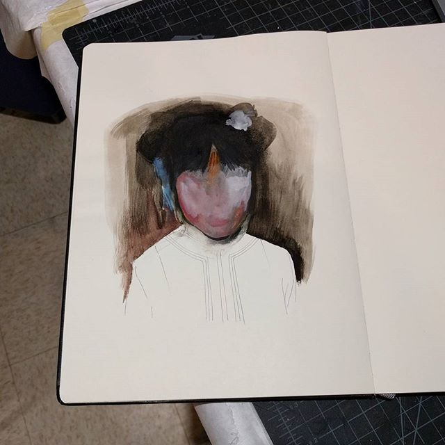 Messing with watercolor while waiting for boards to dry... . . . . #artsubmission #artistcall #artist art #artistsoninstagram #painting #watercolor #sketchbook #portrait