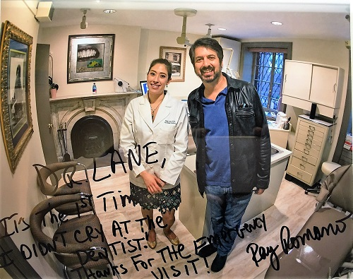 Alina Lane with Ray Romano.  Photo taken by Tom Caltabiano.
