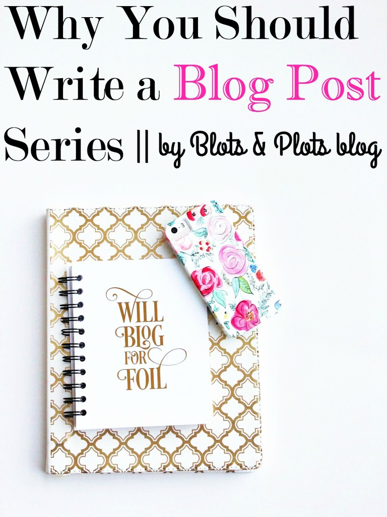 write a blog post series