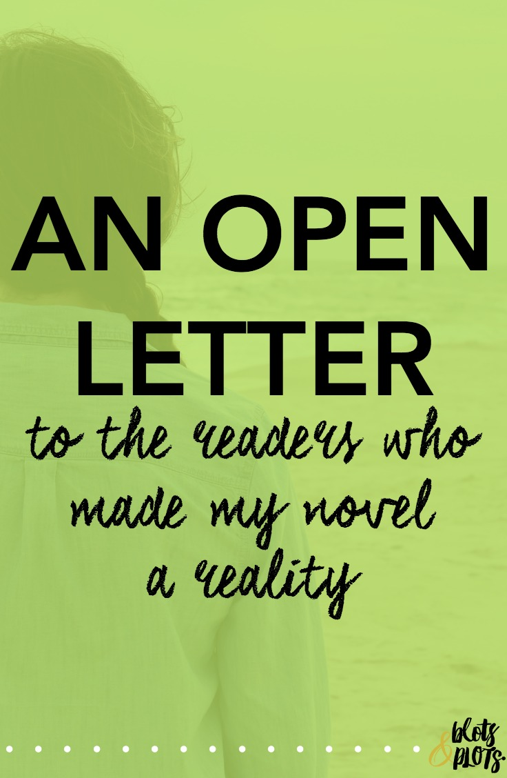 open letter to readers