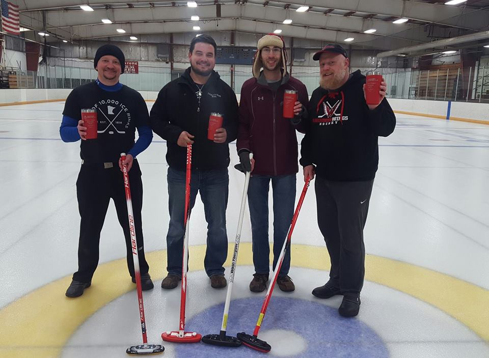From left to right Adam St. Paul, Nathan Severson, Matthew Perreault, Scott Waltmann