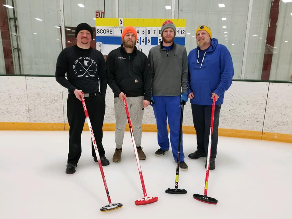 Our 2nd annual New Year bonspiel third place finishers Team St. Paul