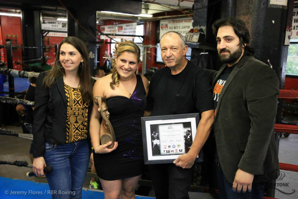 Left to Right: Hasmig Tatiossian, Barbara Greely, Bruce Silverglade, Edward S. Majian. © 2014 Jeremy Flores / RBR Boxing