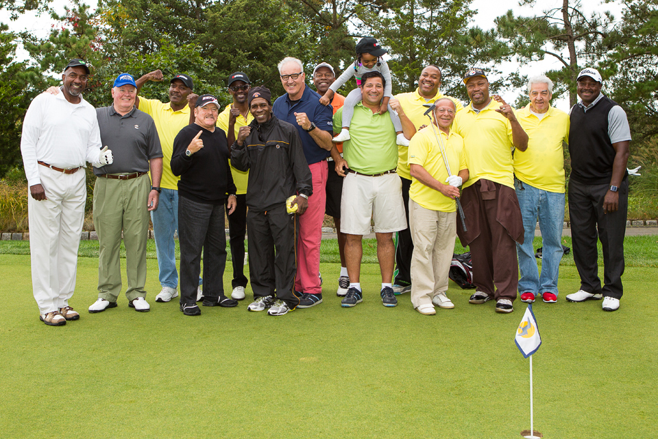 Left to Right: Eddie Cotton, Randy Neumann, Bruce Seldon, Steve Smoger, Mark Breland, Livingstone Bramble, Gerry Cooney, Junior Jones, Gus Williams, Paul Vegliante, Ms. Witherspoon, Tim Witherspoon, Randy Gordon, Ray Mercer, Ed Post, and Earl Brown. © 2014 Sonya Szosyak