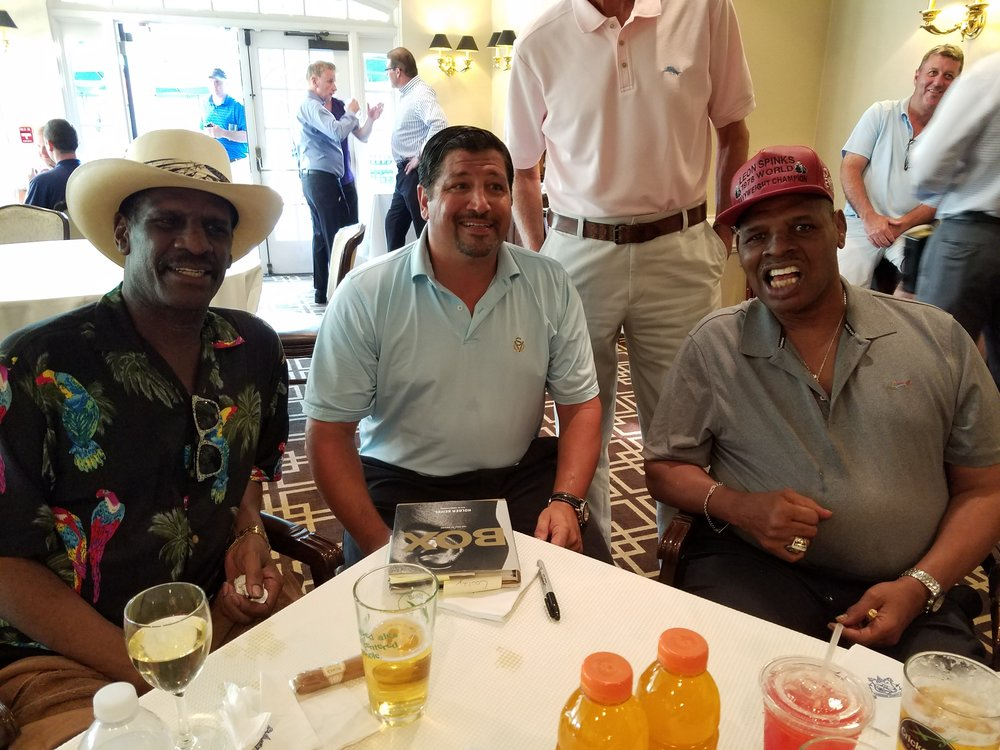 AAIB President Paul Vegliante with Michael and Leon Spinks.