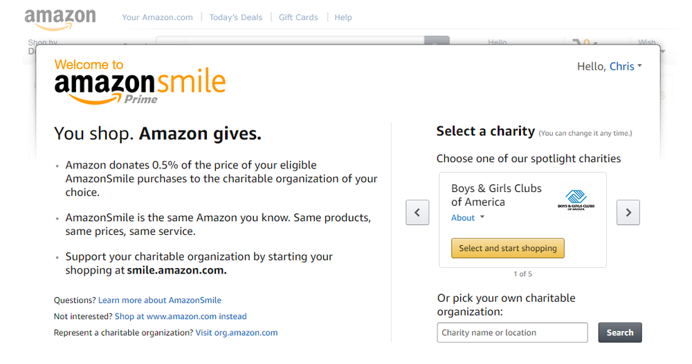 AAIB just became part of Amazon Smile... - If you use Amazon.com (who doesn't?), please sign up using the links below to have Amazon donate a portion of your Amazon purchases to AAIB. Any friends, family, and co-workers willing to do the same would also be appreciated.It costs you nothing, and every time you order through the AmazonSmile page, Amazon will donate to AAIB, so we can help needy and deserving amateur boxers with their education. Please sign up today - choose 'AAIB Boxers Assistance Fund' - with our thanks for your support.