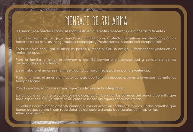 Mensaje de Sri Amma