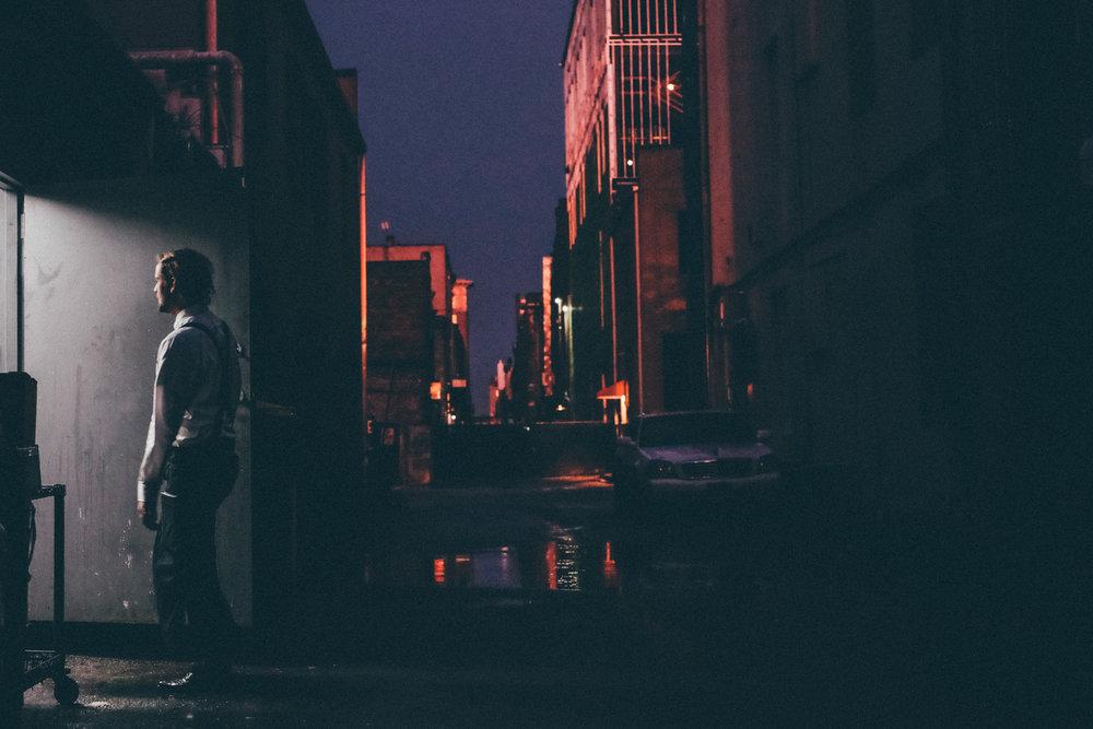Alley facing east, Savannah, 2015