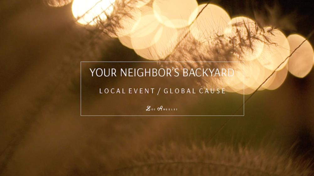Your Neighbor's Backyard / Fall 2015
