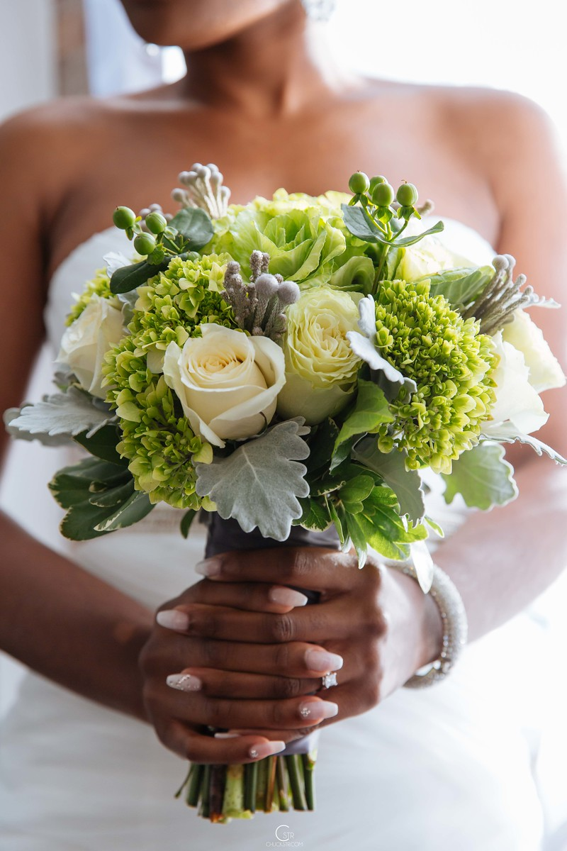 """These are the flowers right before I walked down the isle to say """"I do"""""""