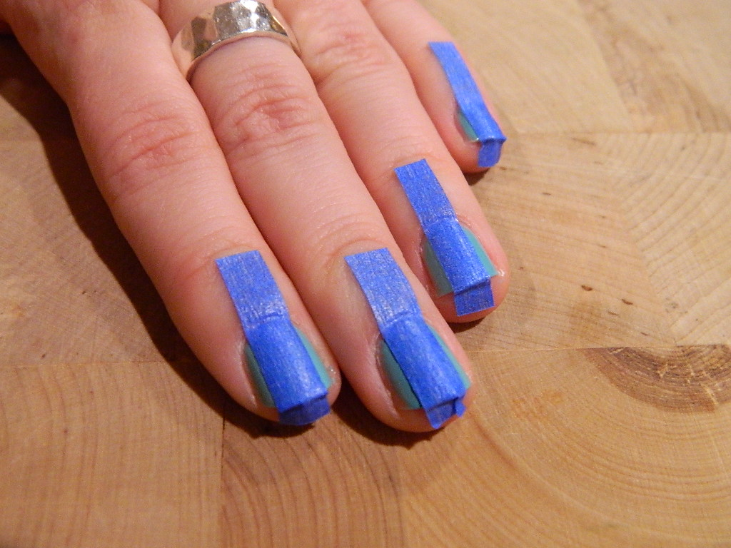 Diy Nail Art Ideas Using Scotch Tape Nail Design Using Tape Diy