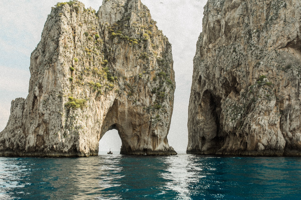 Capri Italy Travel Photographer on Boat Ride