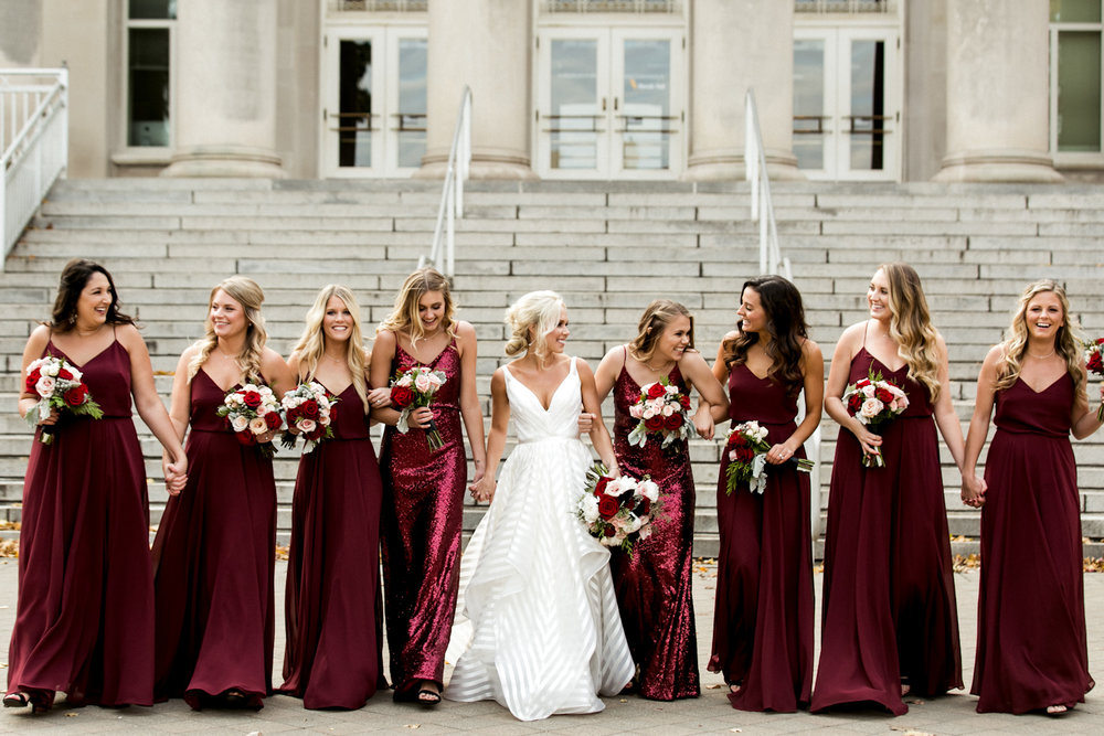 maroon-bridesmaid-dresses-indiana-wedding
