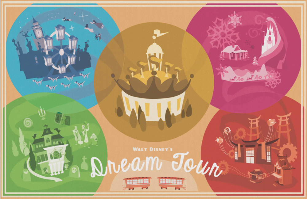 This is a promotional poster for the traveling theme park experience we designed.