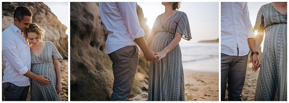 sunset beach maternity session california