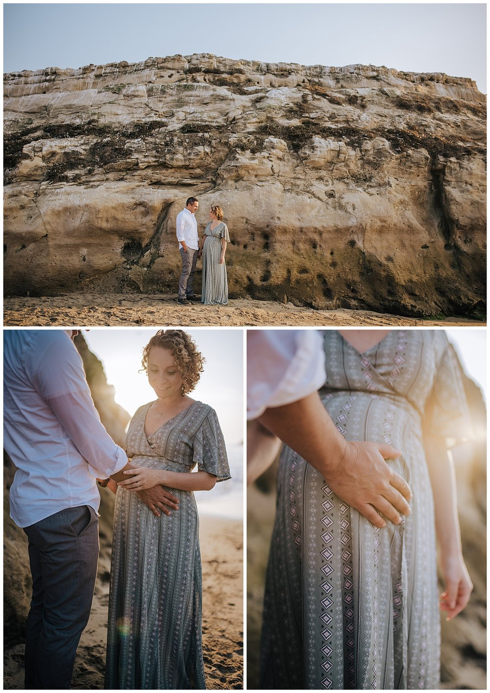 santa cruz sunset beach maternity session