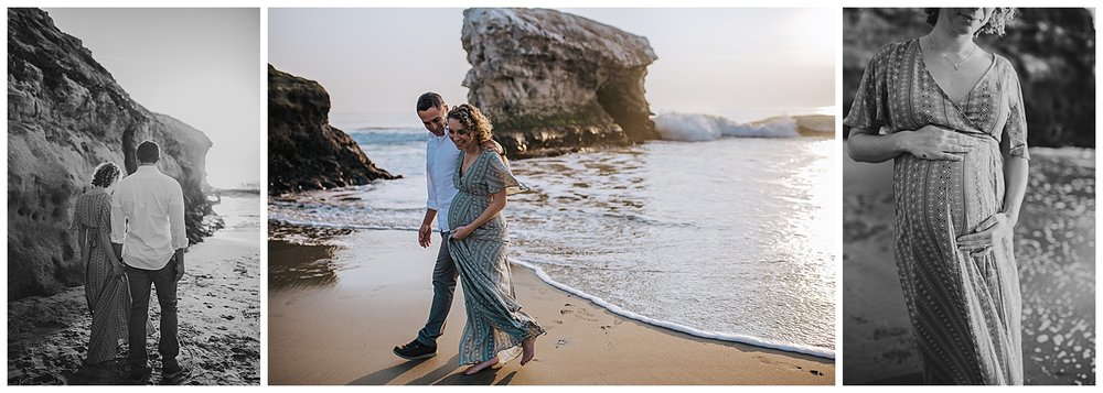 natural bridges beach maternity session