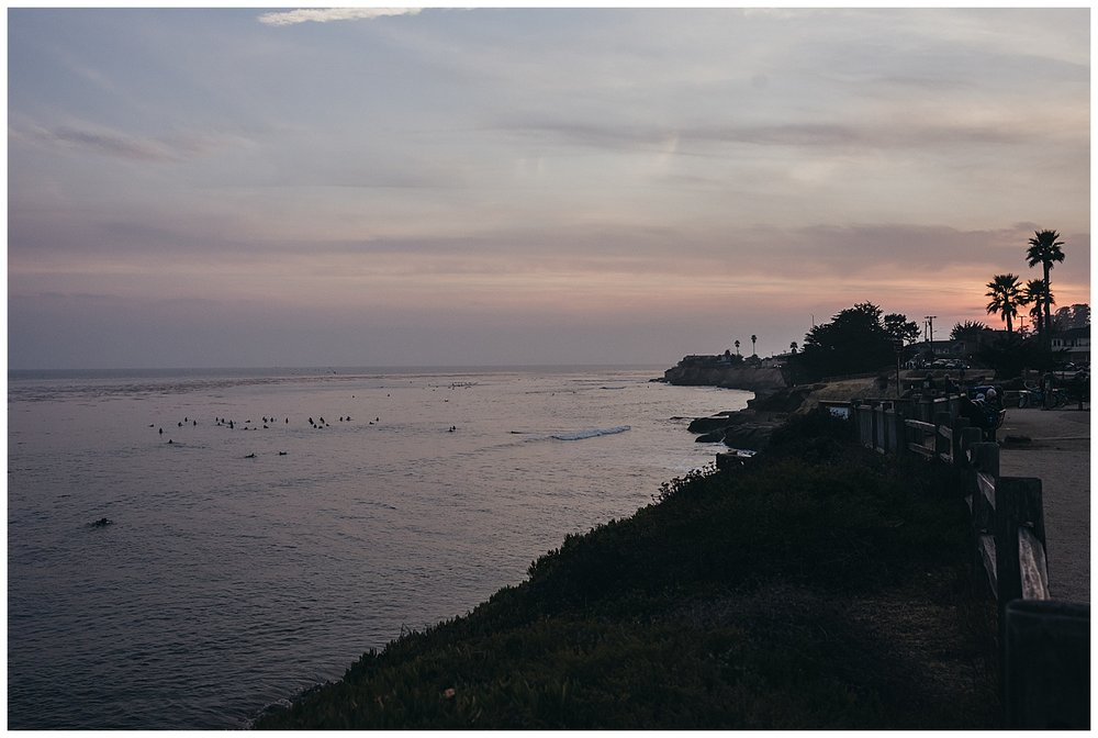 santa cruz sunset over ocean