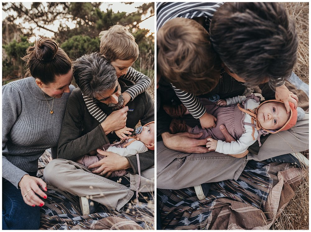 bohemian family photo shoot