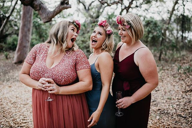 〰️ The Gals 〰️ Sally's gorgeous bridesmaids opted for flower crowns in leui of bouquets 🌸 And didn't they look amazing! With a bright pop of pink complementing this individual dresses 👌🏻🙌🏻 Love this look! Photography: @jasoncorrotophoto :: :: #thebridescollection #madebyme #bouquet #weddingbouquet #flower  #flowers #northernbeacheswedding #bridetobe #bride #groom #wedding #weddingflowers #weddingfilm #weddingcake #loveislove #love #peatsbite #flowersofinstagram #flowerstagram #flowercrown #flowerstalking #flowershop #shoplocal #smallbusiness #weddingreception #shesaidyes #ido #florist