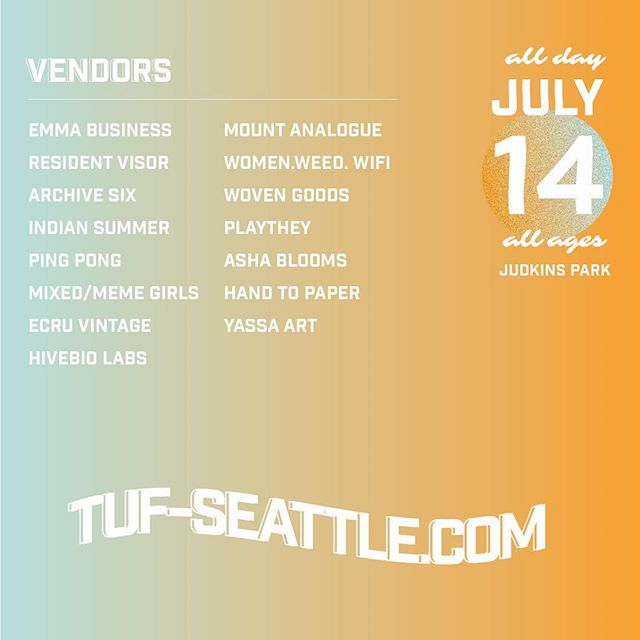 Our amazing lineup of vendors will be here for the rest of the day! Come check them out before the music starts at 4 pm.