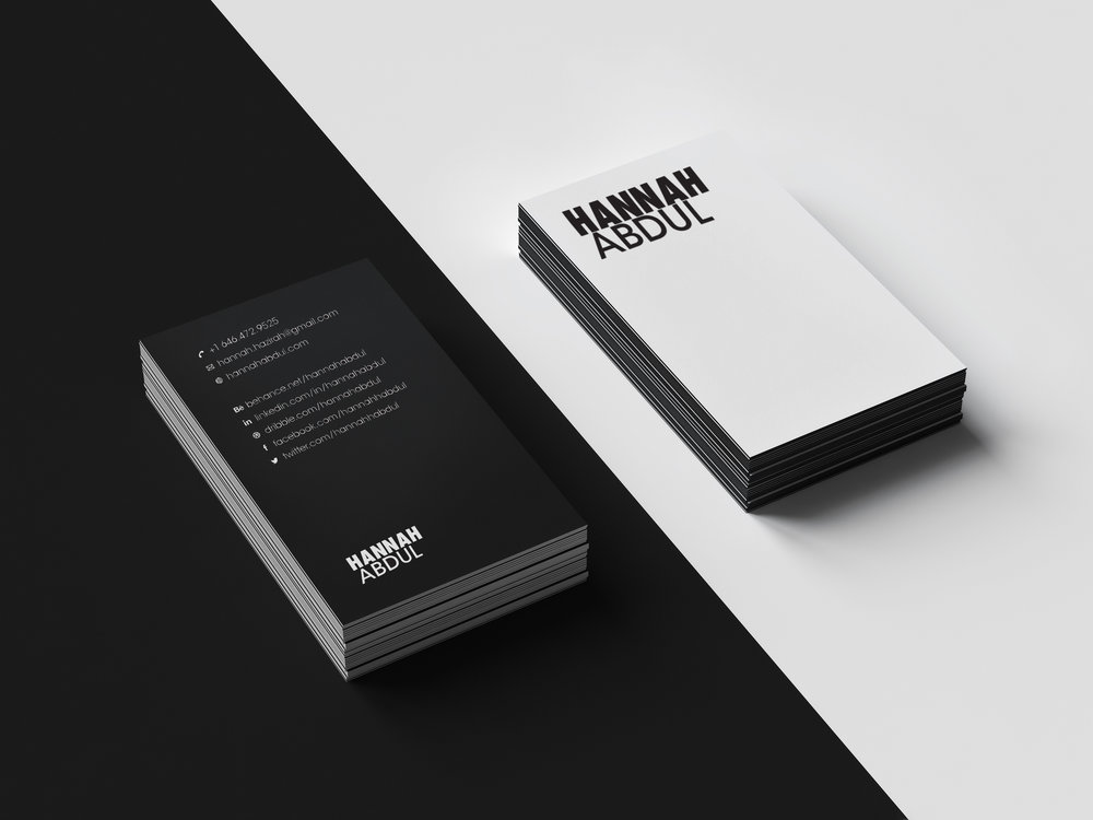 Personal Branding Business Cards Hannah Abdul
