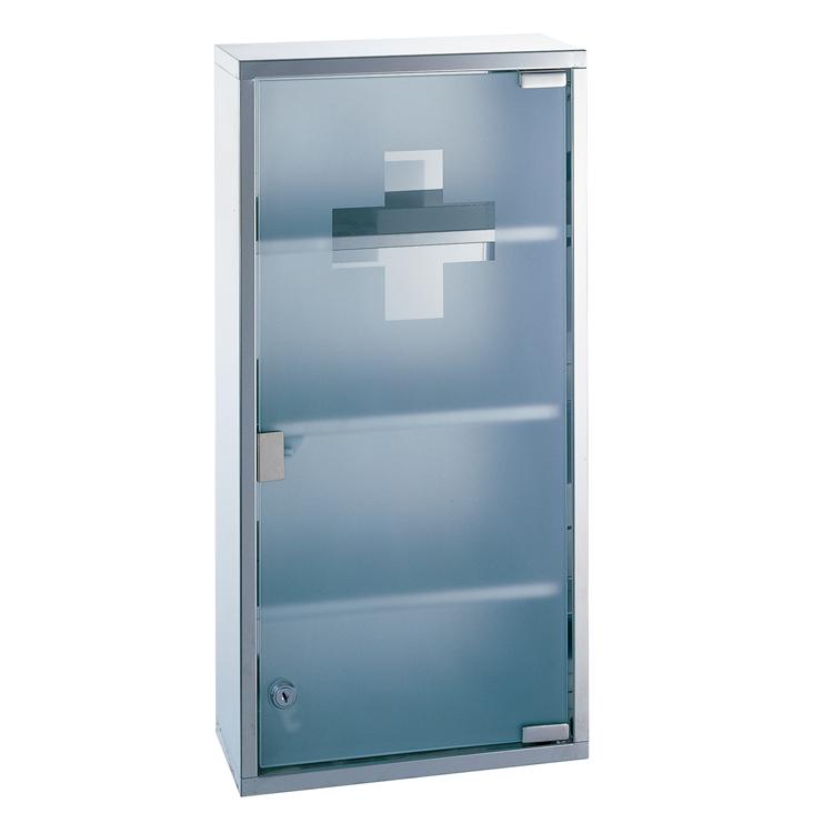 Frosted Glass Medicine Cabinet (4 Shelves)