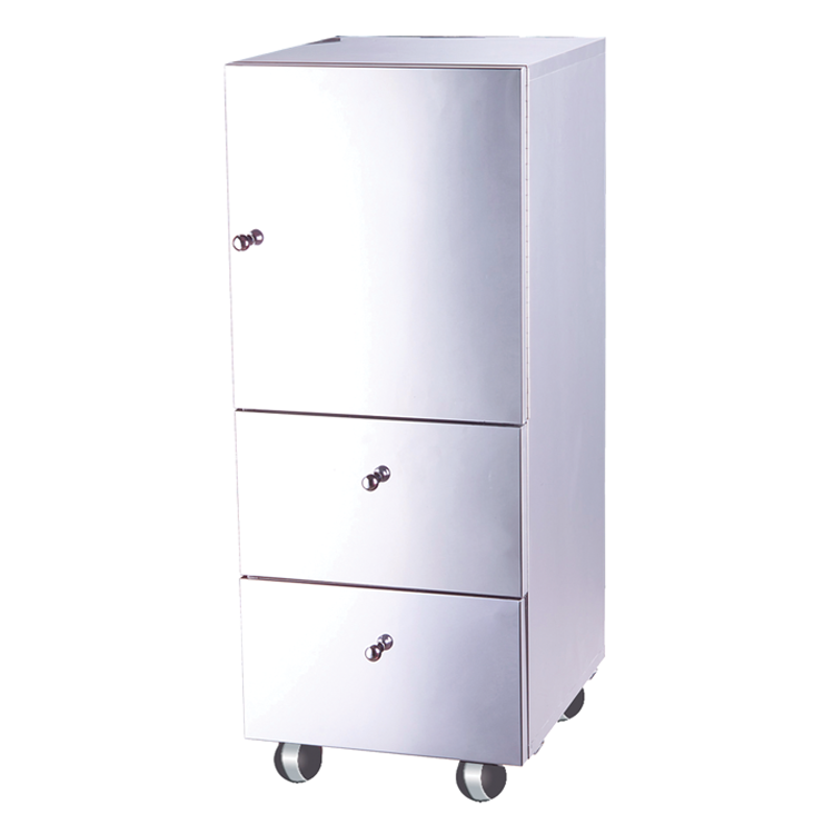 Exceptionnel Single Door Cabinet With Double Drawer Stainless Steel Cabinet With Wheels