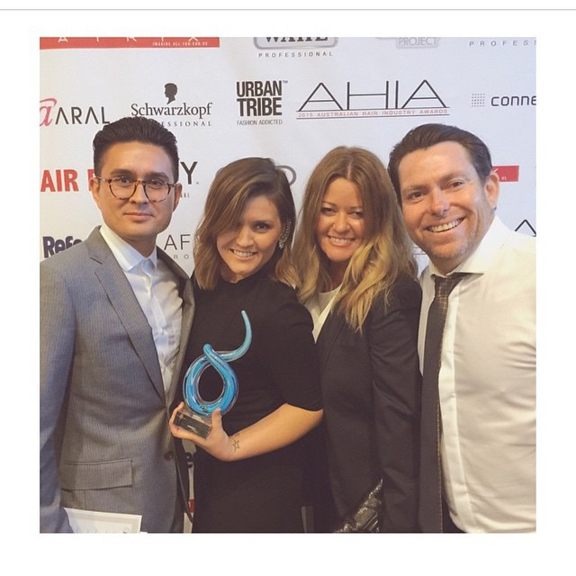 Congratulations to our little sister salon @fhsbuddsbeach #winnersaregrinners couldn't be prouder of the team . nook as top 5 in Australia 2014 and now follow taking it home as national winners 2015 , we are so so proud ..