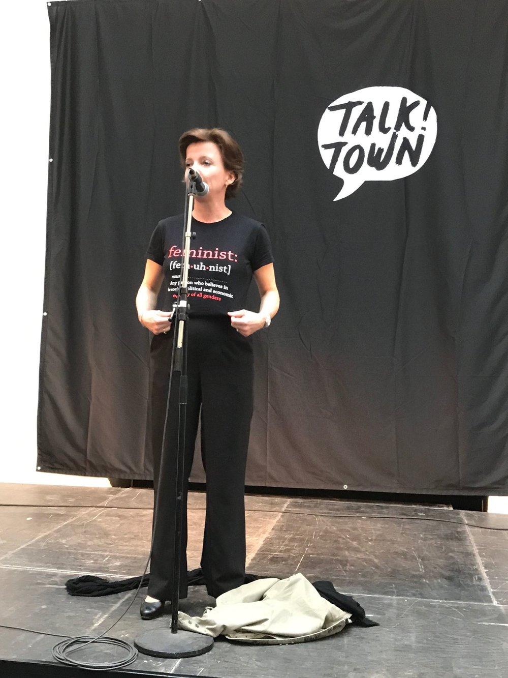 Den danske likestillingsministeren Karen Ellemann (V) var en av gjestene som åpnet debattfestivalen Talk Town.