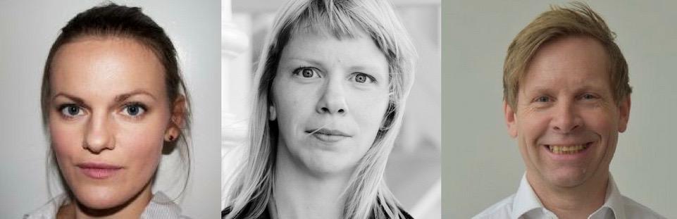 Fra venstre: Eva Lien (Ladyfest Oslo), Anges Ida Pettersen (Norsk Komponistforening) og Rune Rebne (Norges Musikkhøgskole).