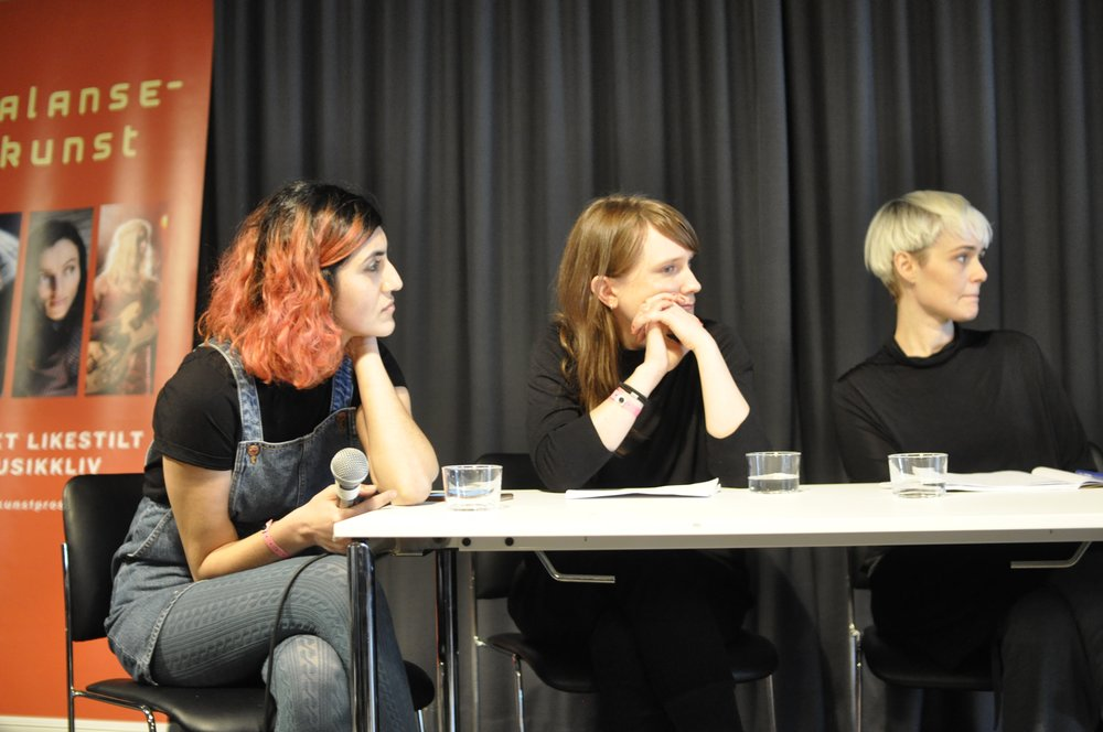 Lára Rúnars (right) is a singer/songwriter from Iceland currently working on her 6th studio album. Lára has a master's degree in Gender Studies and is one of the founders of KÍTÓN, women in music – an Icelandic organization pushing for equality in the music business. Elin Trogen (right) is one of the founders of the production agency FIFTI, and has worked in most parts of the music business since the early 2000's. Elin is also one of the project managers of the mentorship program and network Makten Över Musiken, which is actively working for a more equal music industry.