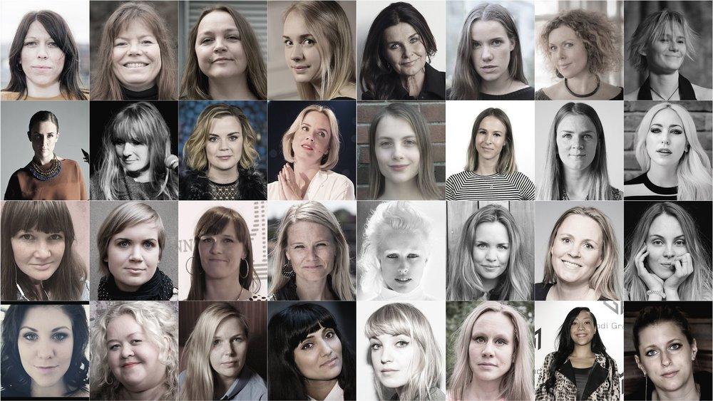 Collage av ansikter, Aftenposten