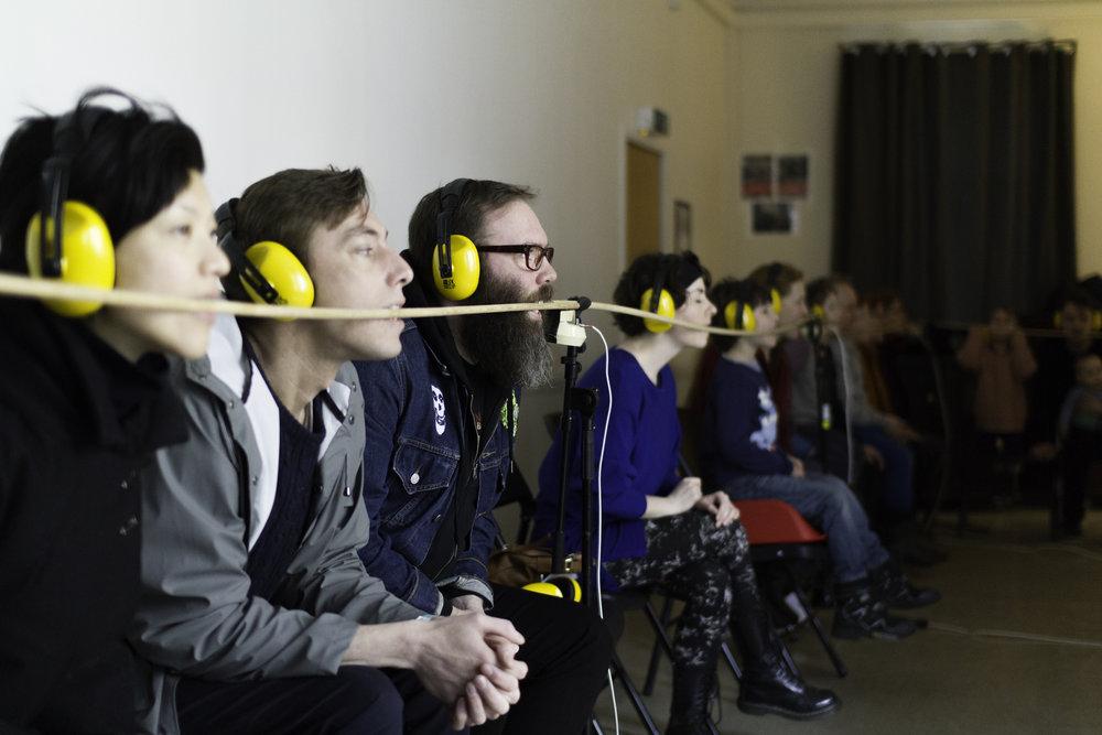 Borealis setter også søkelys på tematikken gjennom sitt nye mentorprogram for unge komponister i Bergen.  Bildet:Konsertsirkurs på Borealis 2016 (Foto: Magnus H. Sunde)