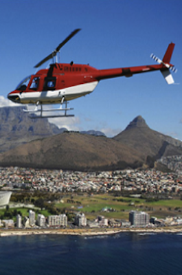 Taking a Scenic Chopper Flight Over Table Mountain