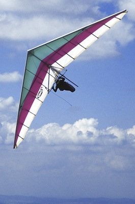 Hang Gliding Over the Andes