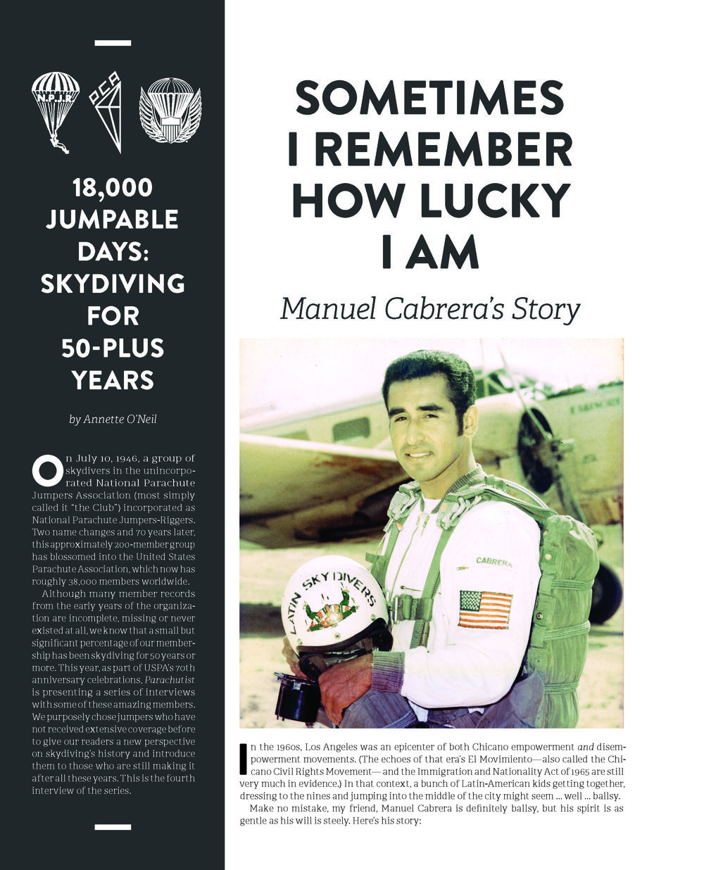 50+ Years of Parachuting: Manuel Cabrera