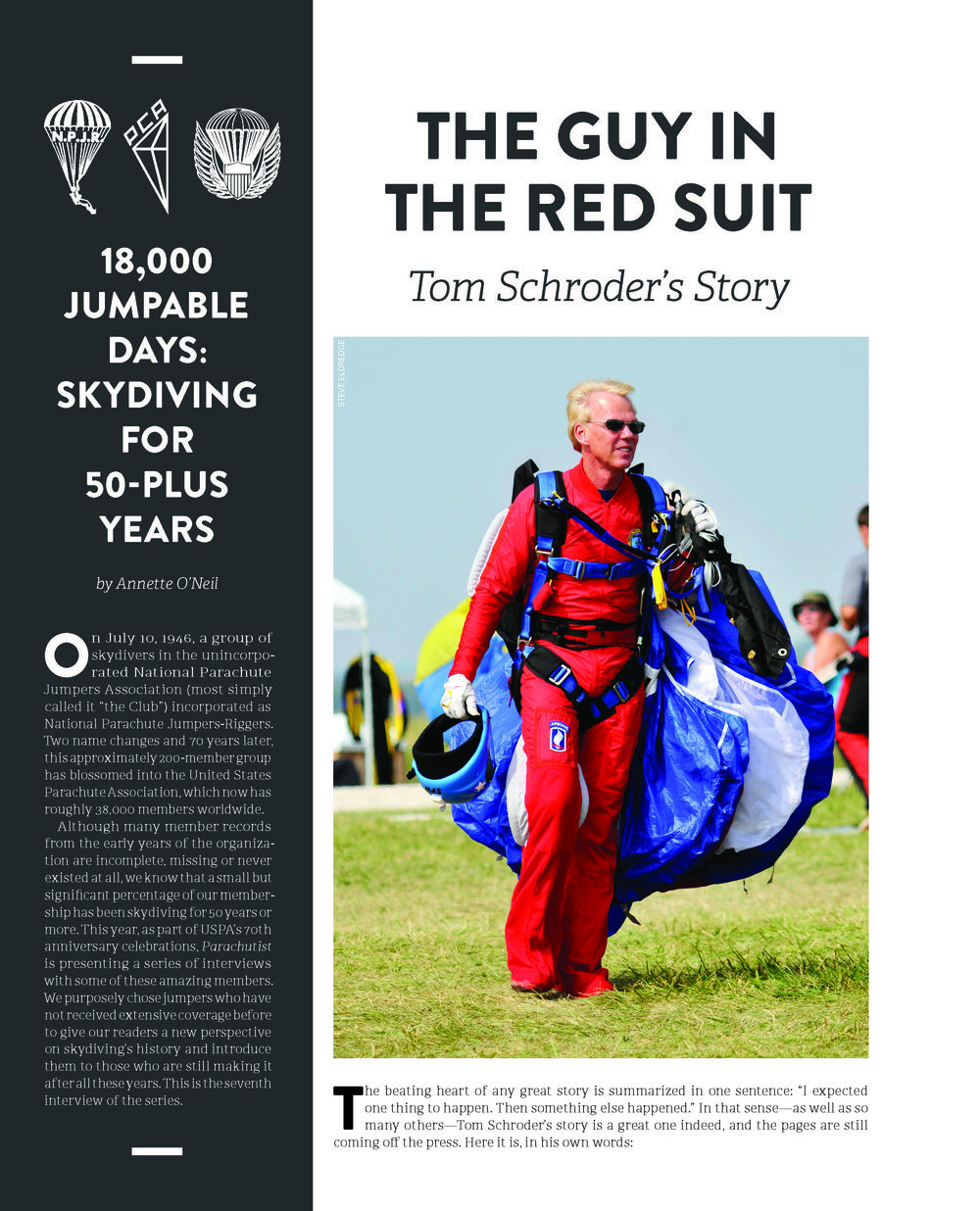 50+ Years of Parachuting: Tom Schroder