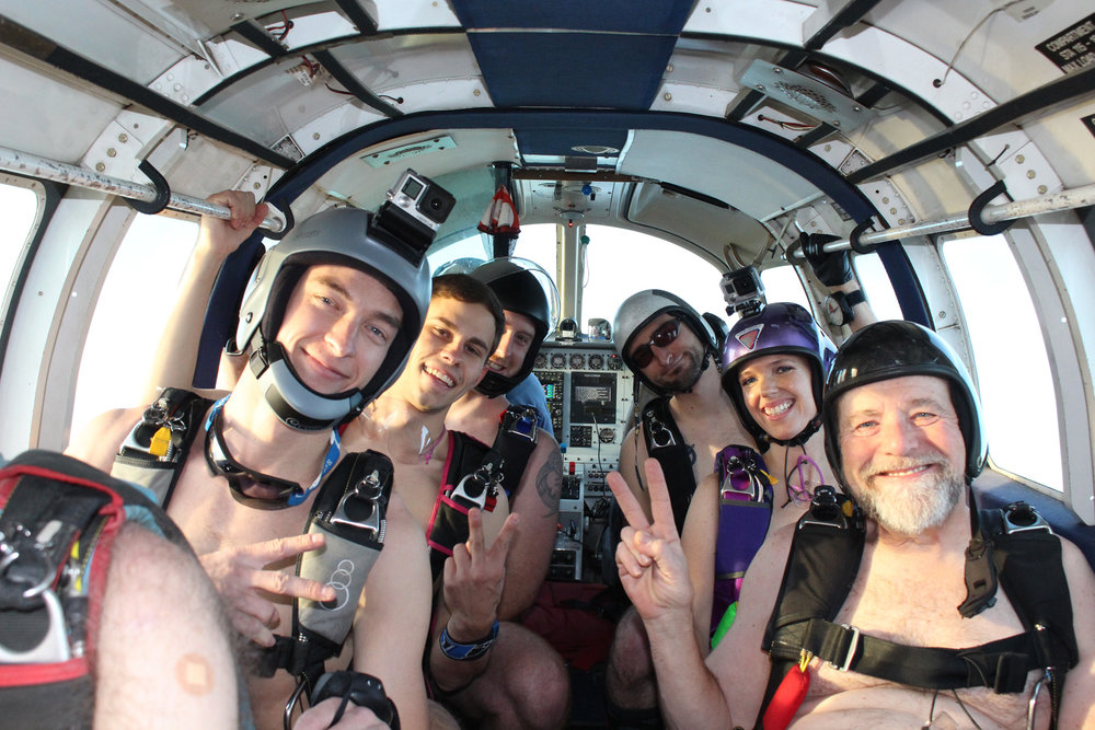 All About Naked Skydiving