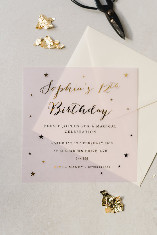 Girls Birthday Party Invitations EmilieRose 205