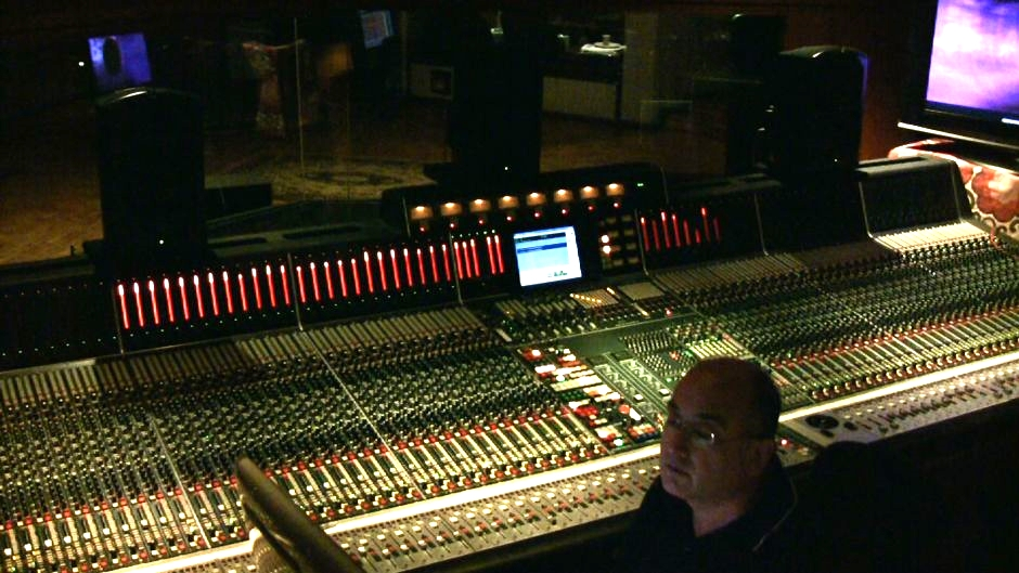 Engineer John Kurlander working on a mix
