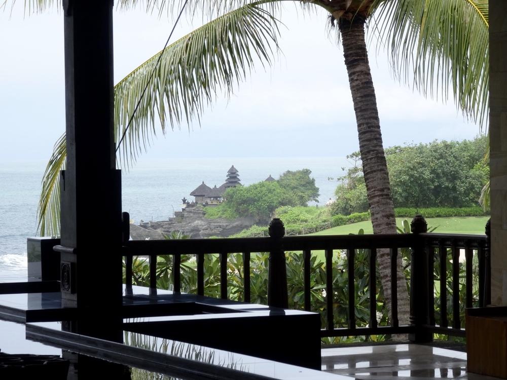 Tanah Lot temple from Pan Pacific Nirwana Resort Bali