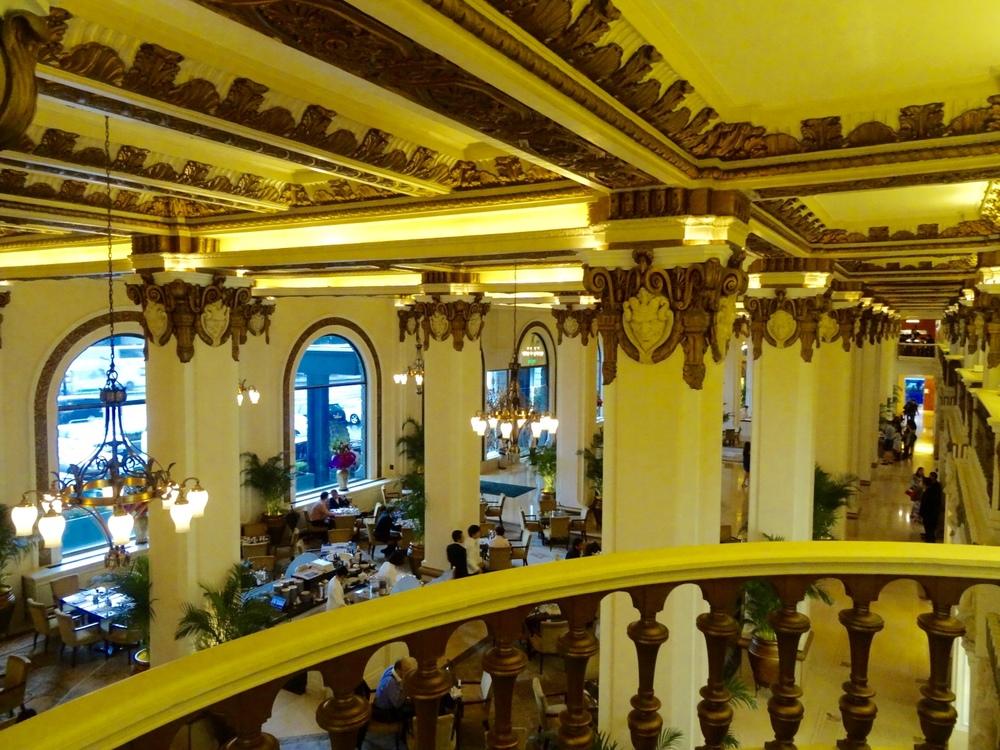 Lobby of Peninsula Hotel Hong Kong