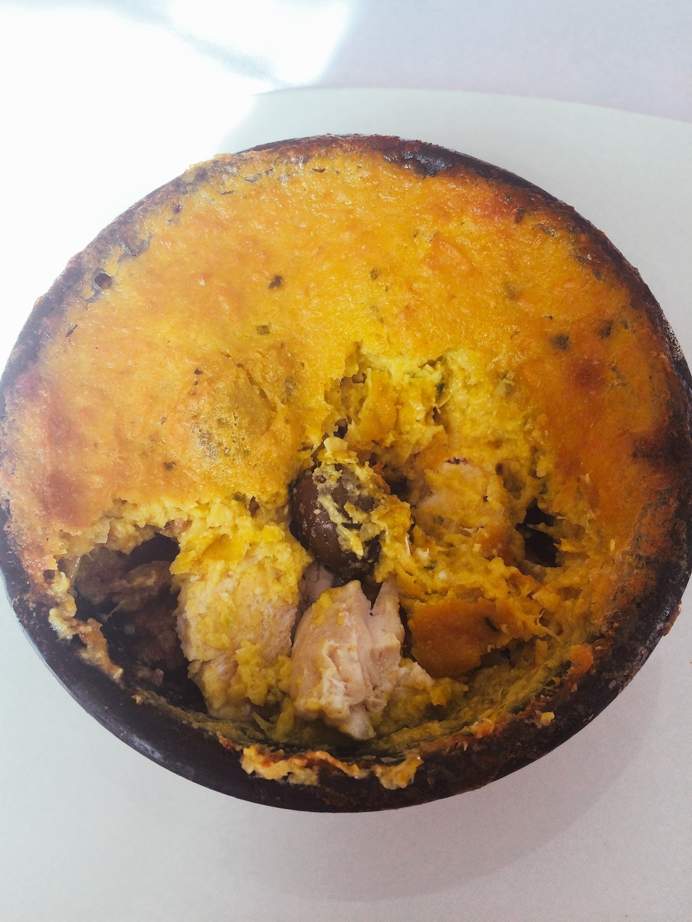 and The delicious result -pastel de choclo