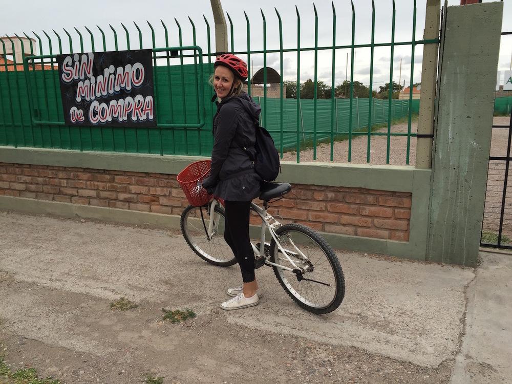 Biking the wine trail in mendoza