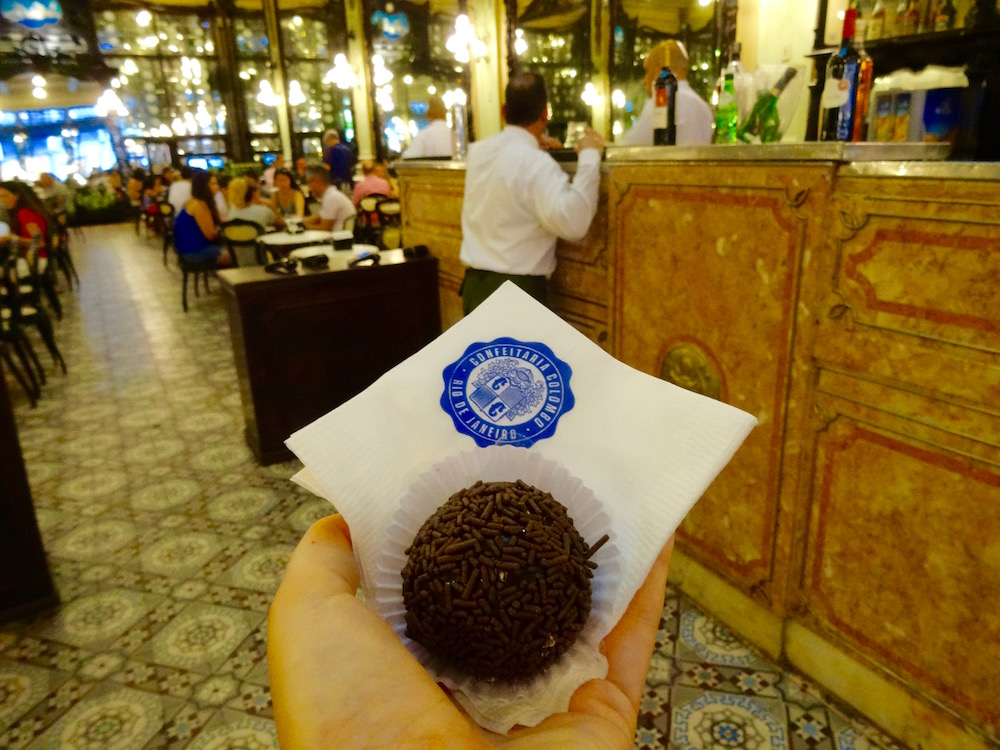 Brigadeiro at the Confiteria Colombo - an age old institution in down town Rio de Janeiro