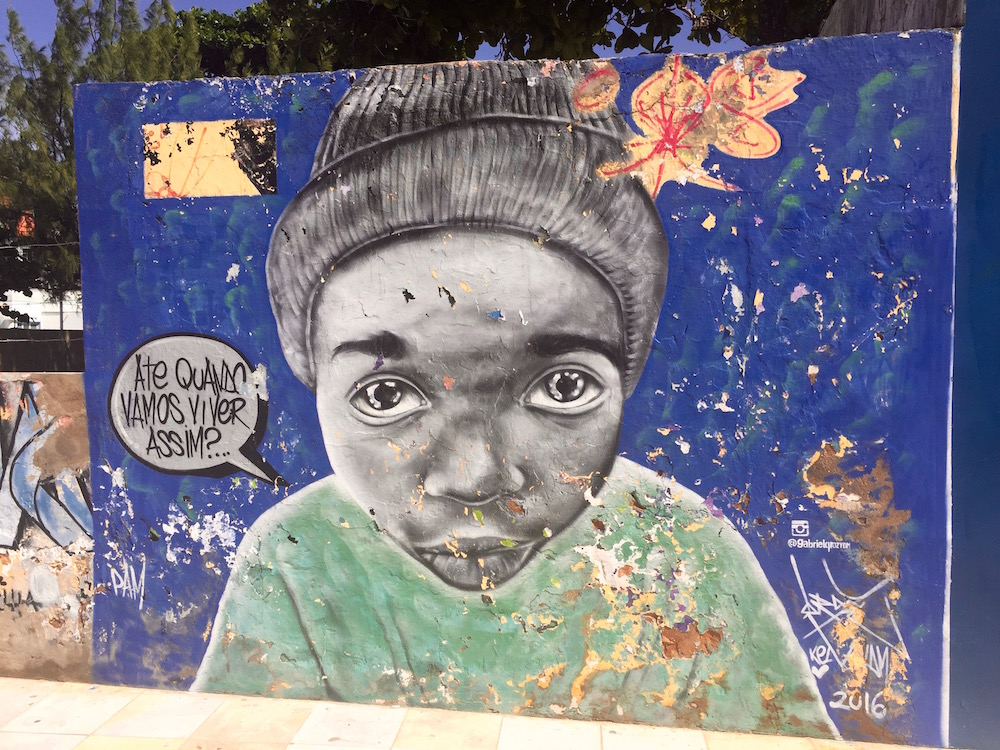 "Street art in Fortaleza - ""How long are we going to live like this?..."""