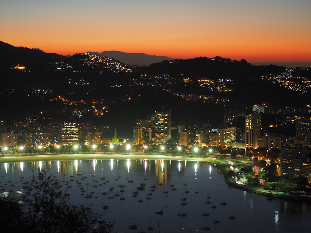 The sunsetting over Botafogo Bay - Taken from the Pão de Açucar - Rio de Janeiro