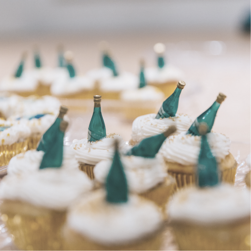 Launch party cupcakes from @granapooscreations. Photo by Mark Clennon.